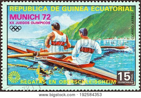 EQUATORIAL GUINEA - CIRCA 1972: A stamp printed in Equatorial Guinea from the