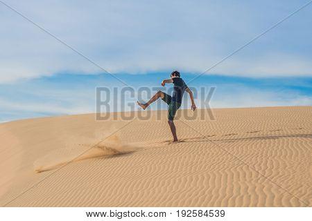 Man Kicks The Sand, Annoyance, Aggression
