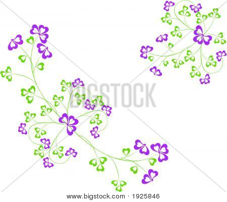 Abstract floral background art design vector illustration poster