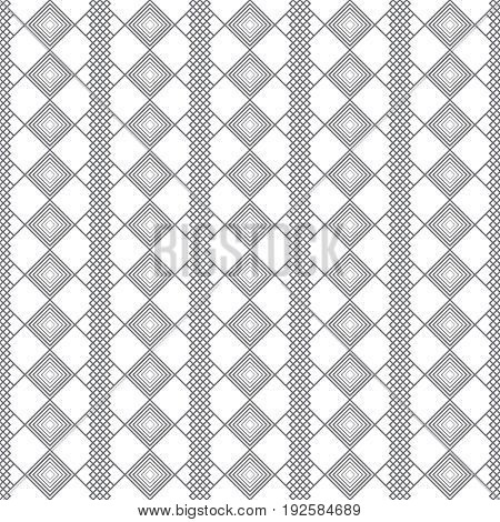 Vector seamless pattern. Stylish modern texture with constant repetition rhombuses diamonds. Geometrical background. Contemporary design.