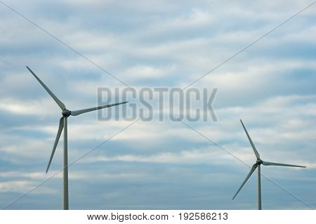 View of the wind turbines at Barna Co. Galway.