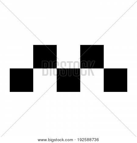 Taxi Symbol  The Black Color Icon .