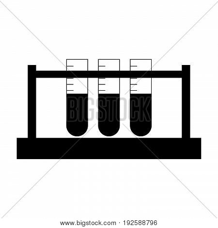Test Tube  The Black Color Icon .