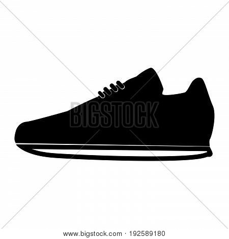 Sport Shoes  The Black Color Icon .