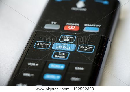 Smart Tv Remote With Motion Control Isolated On White Backgorund