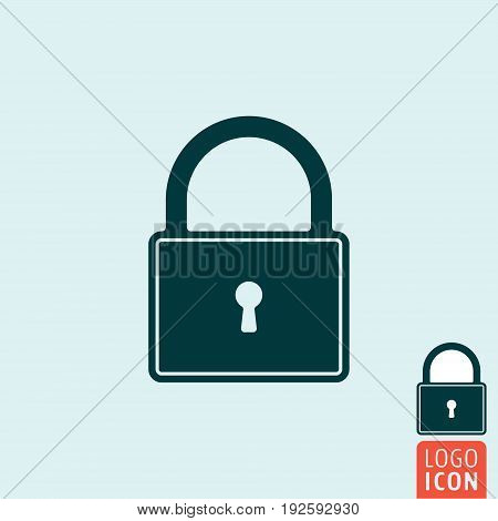 Lock icon. Padlock close symbol. Vector illustration