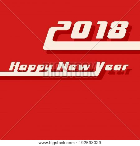 Happy new year 2018 background. Design for cover brochure flyer greeting card template. Vector illustration