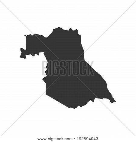 Saba map on the white background. Vector illustration poster