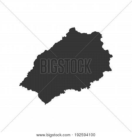 Saint Helena map on the white background. Vector illustration