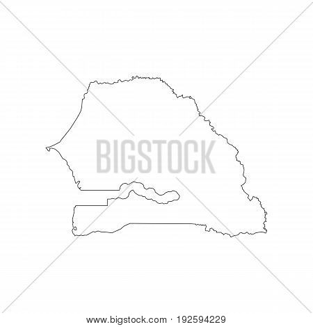 Senegal map on the white background. Vector illustration