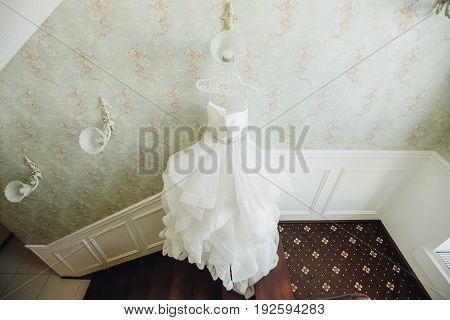 Weddin Romantic Dress In Fashion Concept.