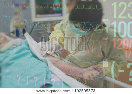 Patient Relative Taking Care Of The Elder Patient