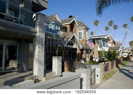 American suburban houses in Orange County - California