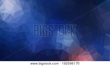 Vector Triangle Mosaic Background With Transparencies In Dark Colors