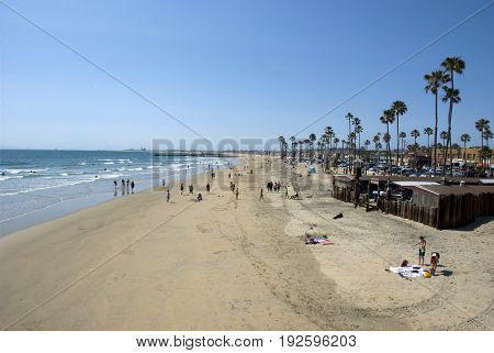 Beach life at Newport Beach, Orange County - California