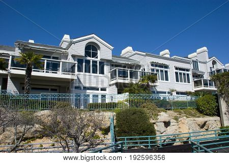Modern american apartment buildings in Dana Point, Orange County - California