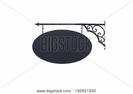 Vintage outdoor shop sign isolated on white