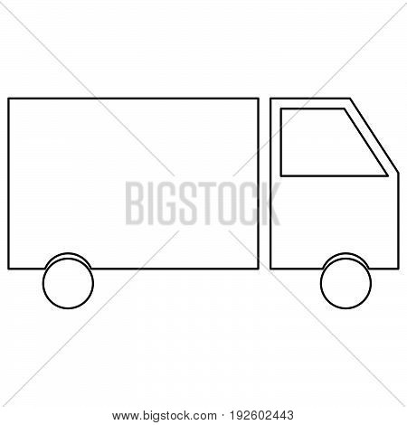 Truck  The Black Color Icon .