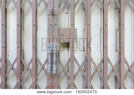 close up rustic old foldable door background