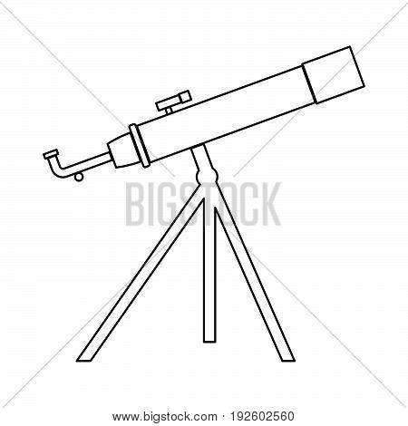 Telescope  The Black Color Icon .