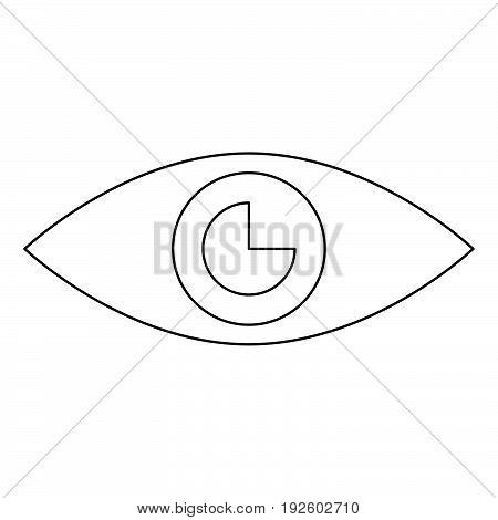 Eye  The Black Color Icon .