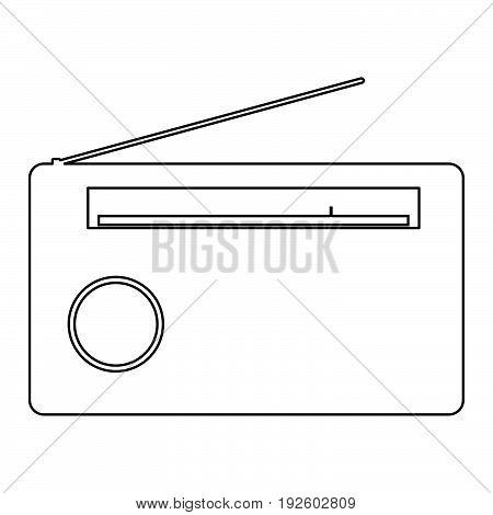 Radio  The Black Color Icon .