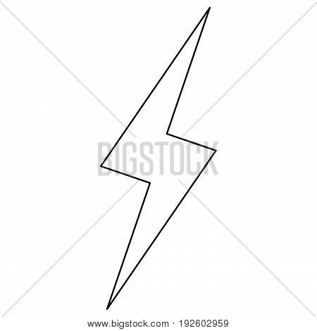 Lightning  The Black Color Icon .