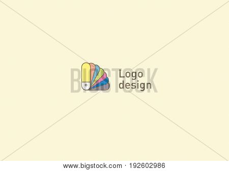 Creative logo or fan icon color palette