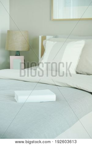 Close Up Book On Bed In The Bedroom