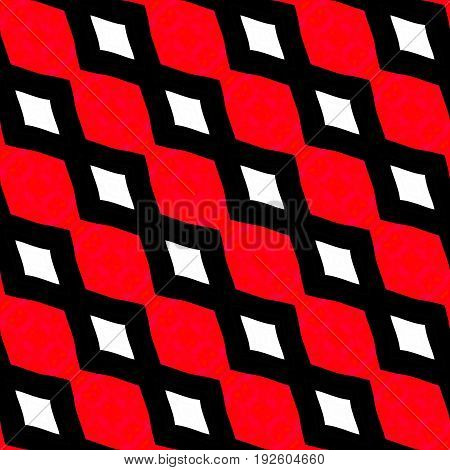 Bright red and black and white diagonal seamless zigzag pattern design