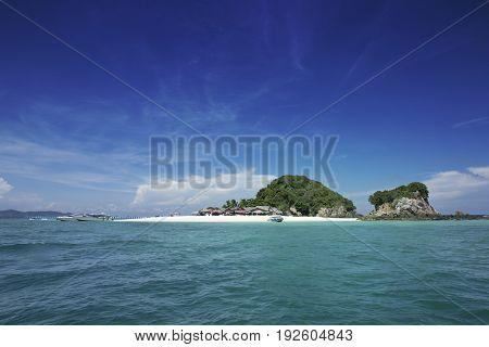 Wonderful Island and Blue Paradise Khai Island Thailand.Tour Business Concept.