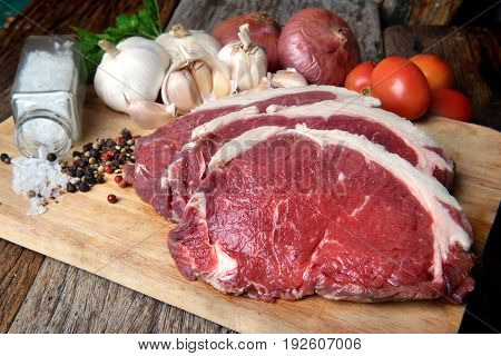 Rare Angus Beef Cut And Ready For Cooking