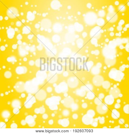 Defocused Of Glitter Or Bokeh Circle On Gold Background