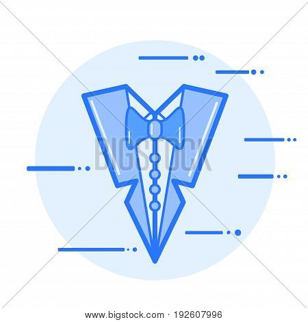 men's dress code suit and tie vector illustration icon.