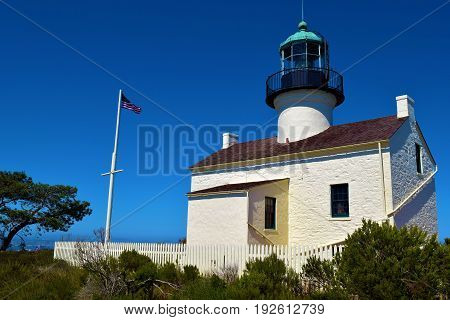 Point Loma Light Station which opened in 1855 and is a historical landmark taken on the California Coast