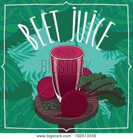 Healthy Fresh Beet Juice With Root Vegetables