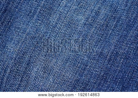 Jeans Close-up. Interlacing The Fabric With A Close-up