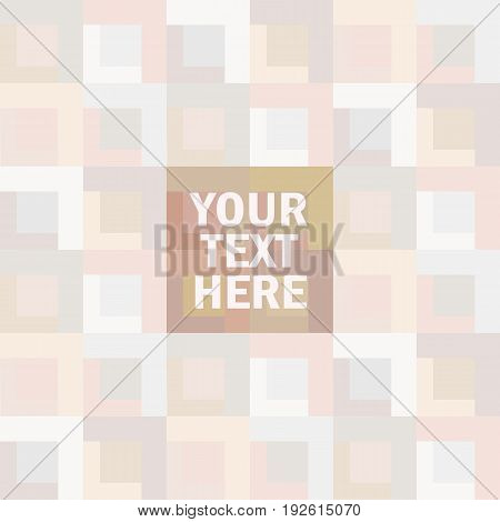 Abstract color-block background. Template for invitation, logos, gift, voucher, certificate. Trendy design for cover, web, fabric, card, brochure, tag. Place your text.