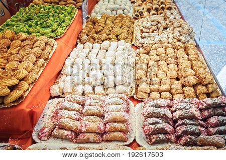 Various Sicilian Almond Biscuits.