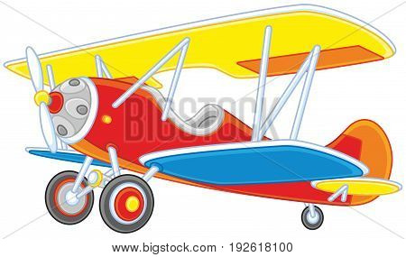 Vector illustration of an toy old airplane