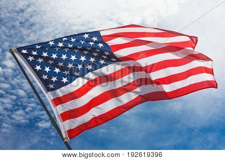 USA flag background. American symbol of Independence Day July 4th democracy and patriotism