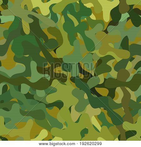 abstract vector chaotic spotted seamless pattern - green