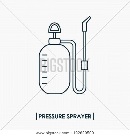 Pressure sprayer outline icon isolated. Garden sprayer