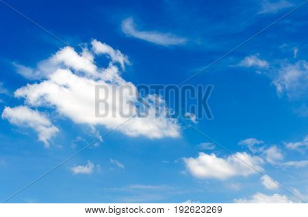 blue sky with cloud for background sunny day in summer