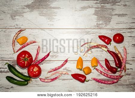 Background Of Vegetables Above View