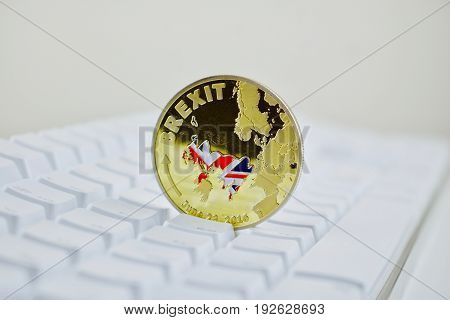 Brexit Coin With Map