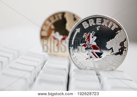 Gold And Silver Brexit Coin