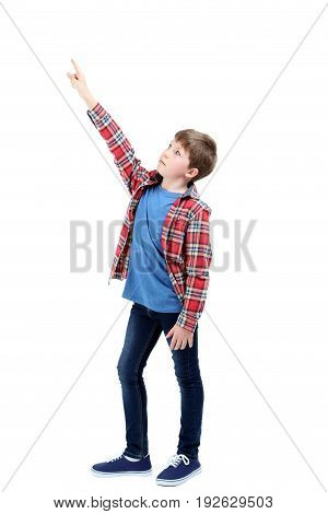 Portrait Of Young Boy Isolated On A White