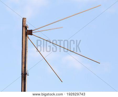 antenna on a background of blue sky