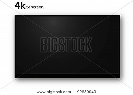 Blank  4k tv screen vector television mockup realistic illustration  wall tv